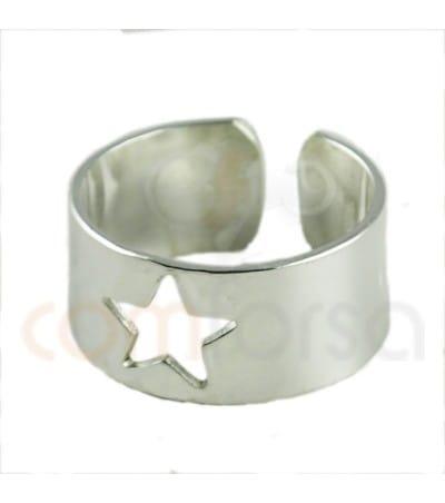 Sortija con estrella plata 925