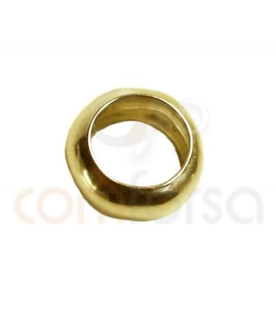 Gold plated Sterling silver 925ml thick ring 4 mm (2.2 int)