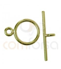 Gold plated Sterling silver 925ml T clasp 8mm with bar 15 mm