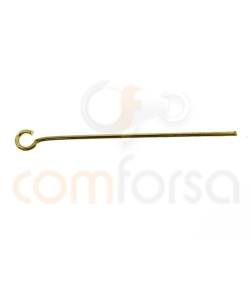 Sterling silver 925 gold-plated eye pin 30 mm