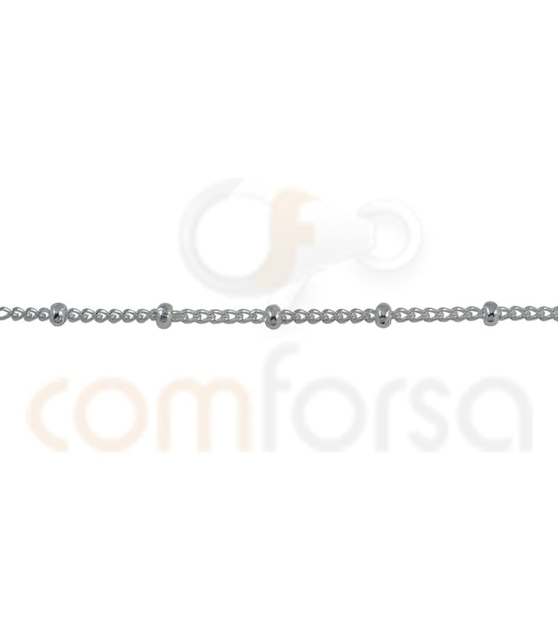Sterling silver 925ml barbada chain with ball 1.2 mm