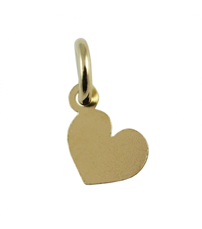 Gold plated Sterling siler 925ml Heart pendant 6 x 5 mm