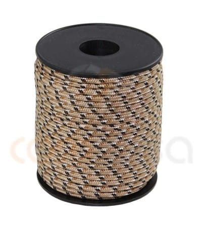 PARACORD 3 MM THREE-COLOR BROWN