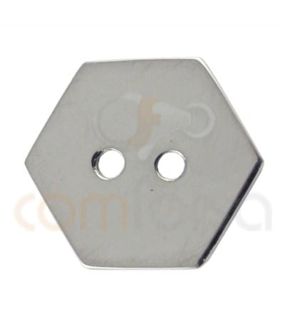 Hexágono doble taladro 12 mm plata