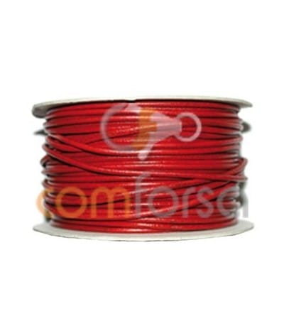Red leather 2 mm premium quality