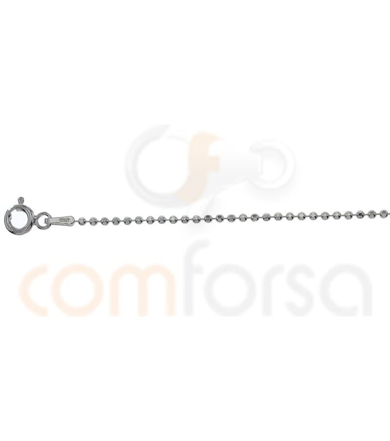 Sterling silver 925ml faceted 1.5 ball chain