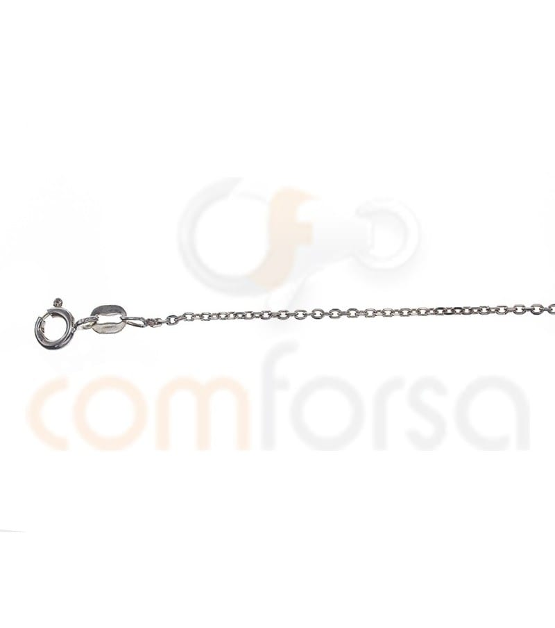Sterling silver forçat chain 1.9 x 1.6 mm
