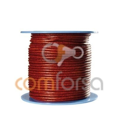 Brick-red coloured leather 2 mm premium quality