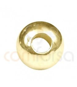 Gold plated Sterling silver 4 mm(1.5) round bead