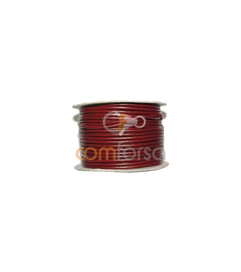 Deep red leather 3 mm premium quality