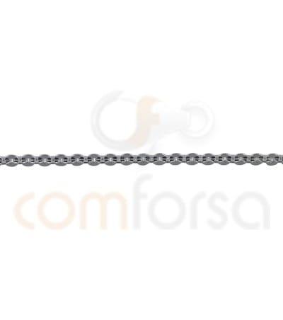 Cadena forzada martilleada 1.9 x 1.65 mm en plata 925