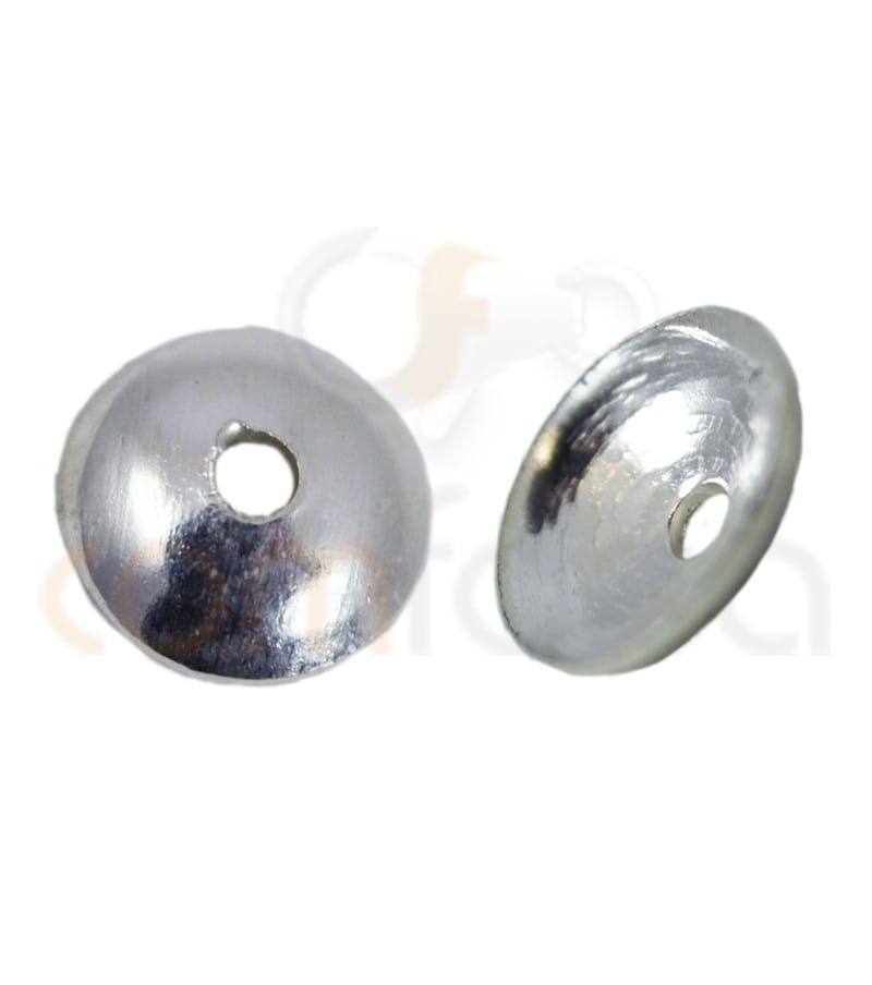 Sterling silver 925 plain cap 4 mm