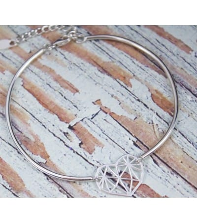 Tube with extension bracelet sterling silver 925
