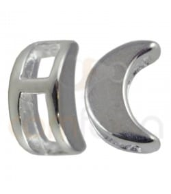 Sterling silver 925 moon spacer bead 5 x 7mm