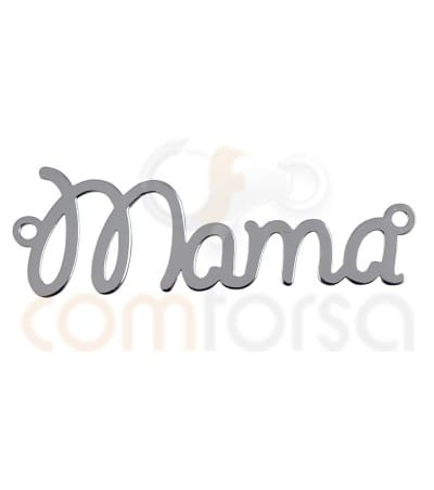 Sterling silver 925ml mama connector 37 x 10 mm
