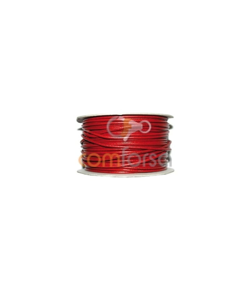 Red leather 5 mm premium quality