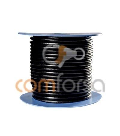 Cuero negro 6 mm Calidad premium