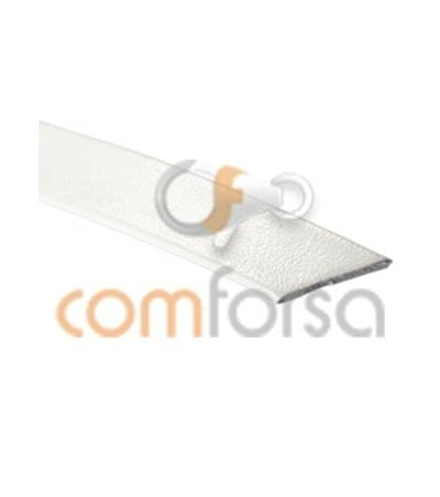 White flat leather  5mm 50%