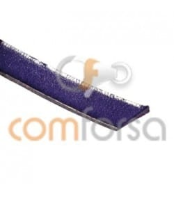 Purple flat leather 7 mm 50%