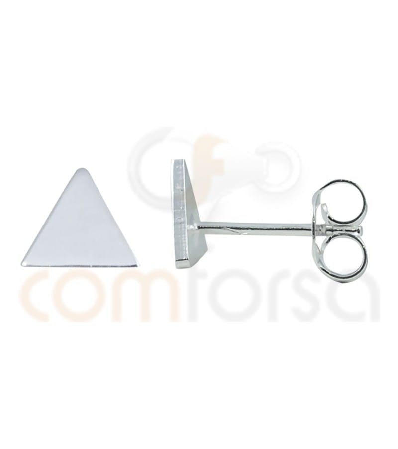 Sterling Silver 925ml triangle earrings 8 mm