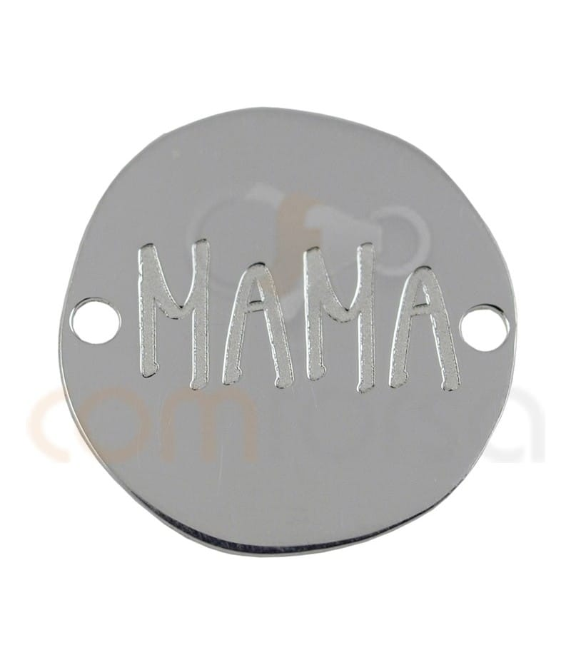"""Sterling silver 925 """"MAMÁ"""" connector 17 mm"""