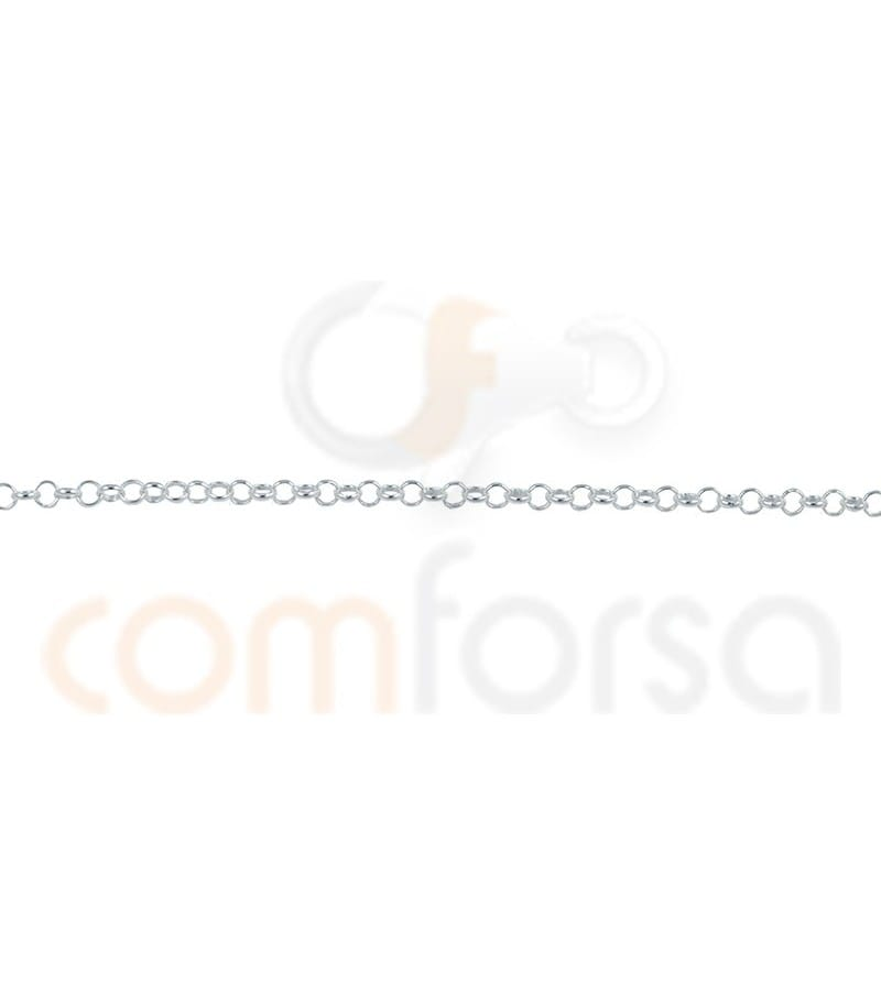 Sterling silver 925ml  round rolo chain 1.6 mm