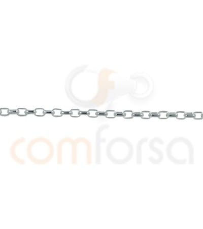 Sterling silver 925 oval cut curb chain 3 x 2 mm