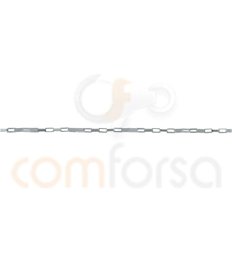 Sterling silver 925 straight chain 2 x 1 mm
