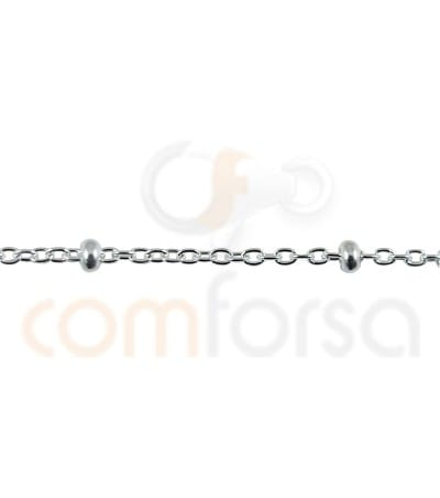 Sterling silver 925ml forçat chain with balls