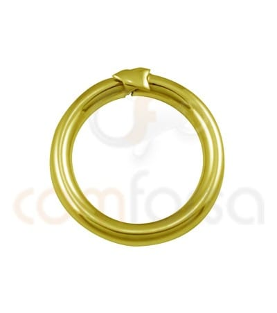 Anilla mágica 20 mm plata chapada en oro