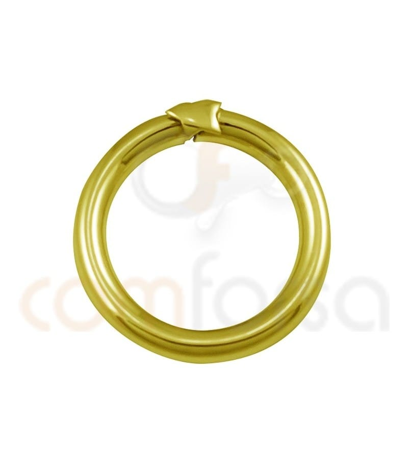 Sterling silver gold-plated magic ring 20 mm