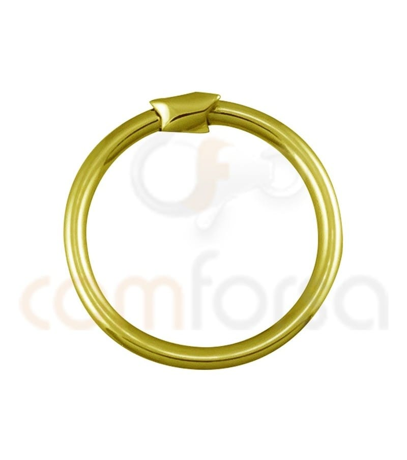 Sterling silver gold-plated 925ml magic ring 18 mm