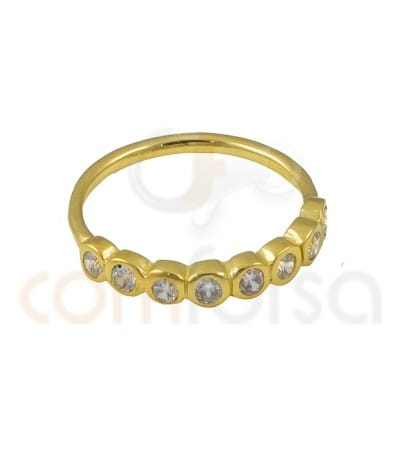 Gold Plated Sterling Silver 925ml eight zirconia ring