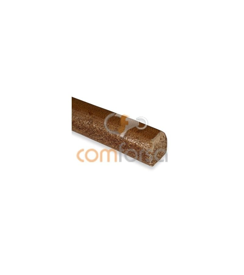 Light brown flat leather cord 10 mm premium quality