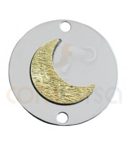 Sterling silver  925ml two colored moon medaillion  18 mm