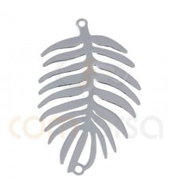 Sterling silver 925ml Palm tree leaf connector 20 x 32 mm