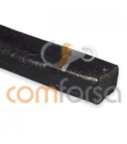 Black flat leather cord 10 mm premium quality