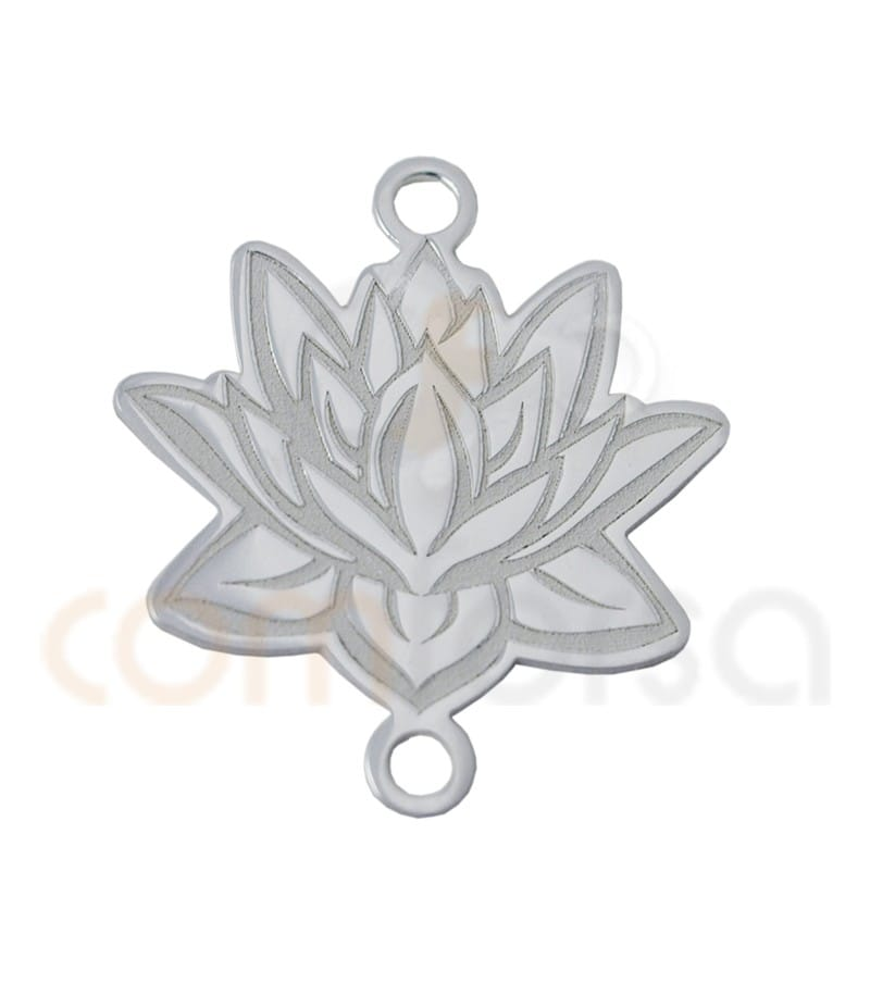 Sterling silver 925ml Lotus flower connector 15x17mm