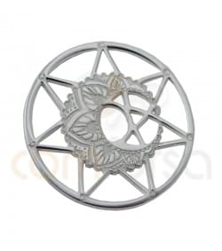 Sterling silver 925ml Mandala with moon 13 mm 13mm
