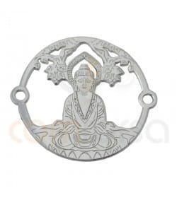 Sterling silver 925ml Buddha with Tree of life connector 20 mm