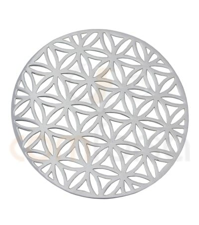 Sterling silver 925ml Mandala flower of life pendant  25 mm