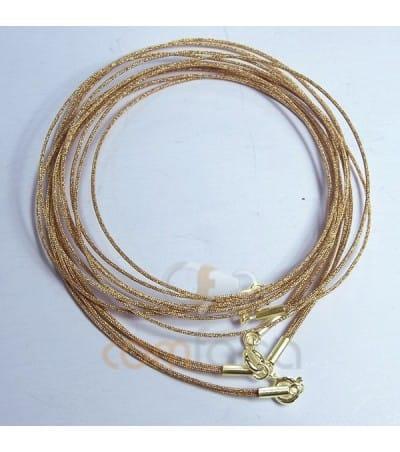 Gargantilla seda japonesa oro 40cm