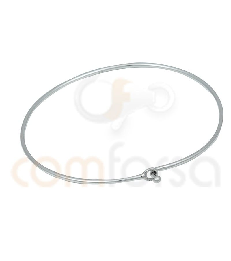 Sterling silver 925ml plain bracelet with ball