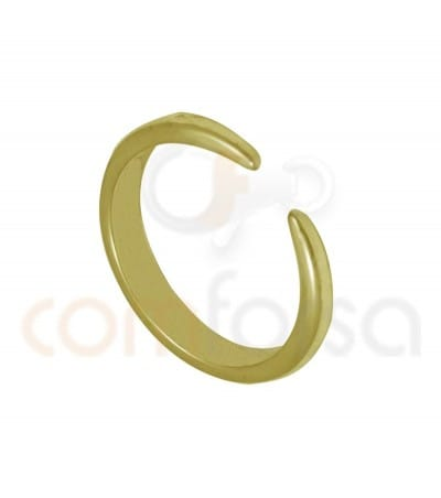 Sterling silver gold-plated horn alliance ring