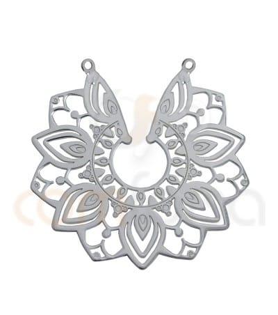 Entrepieza flor mandala 29 mm plata 925