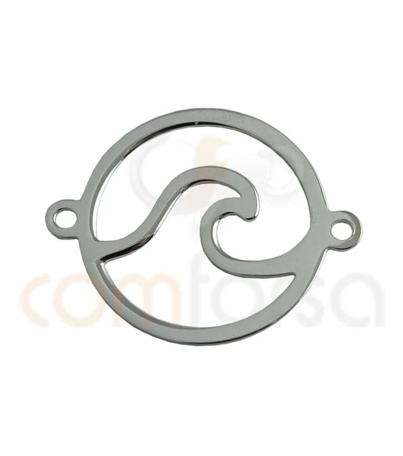 Sterling silver wave connector 15 mm
