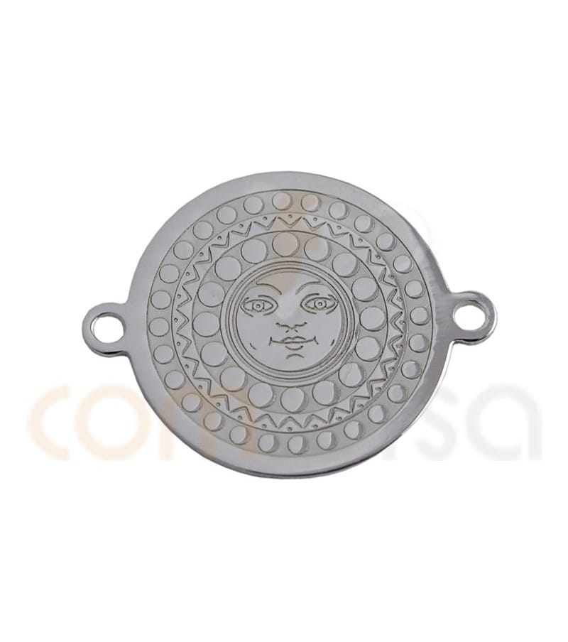 Sterling silver 925ml sun coin 14.5 mm