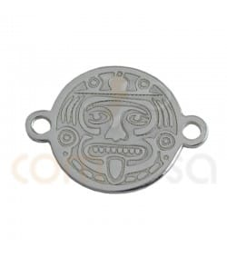 Sterling silver gold-plated tatum mexico connector 10 mm