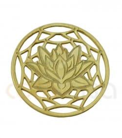 Sterling silver 925ml Mandala  with lotus flower 13 mm