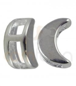 Gold plated Sterling silver moon spacer bead 7mm